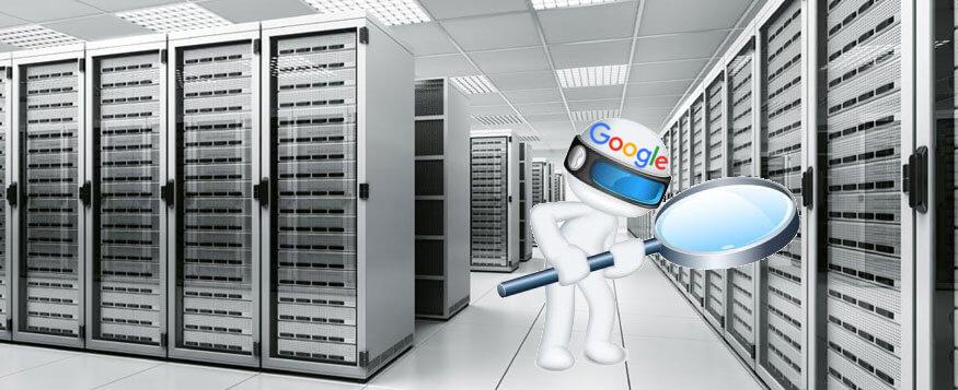 Relación entre hosting y el SEO - Imagen de Google buscando en los servidores