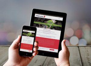 Tendencias diseño web 2016 - Imagen de páginas web en móvil y tablet