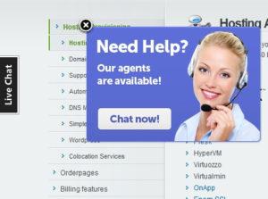 Chat de soporte para sitios web - Imagen de invitación de chat