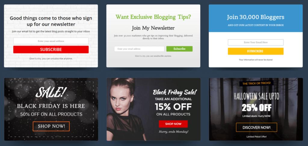 Pop up como herramienta de marketing - Imagen de varios pop ups