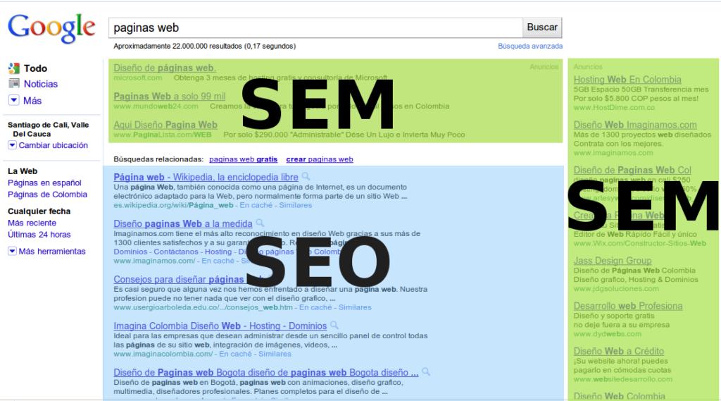 Diferencias entre el SEO y el SEM - Imagen de seo y sem